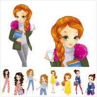 Cartoon fashion beauty