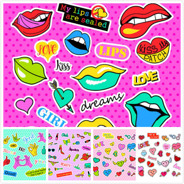 Cartoon label sticker