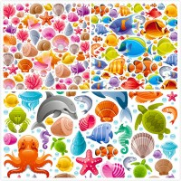 Cartoon marine creatures