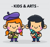Cartoon painting children