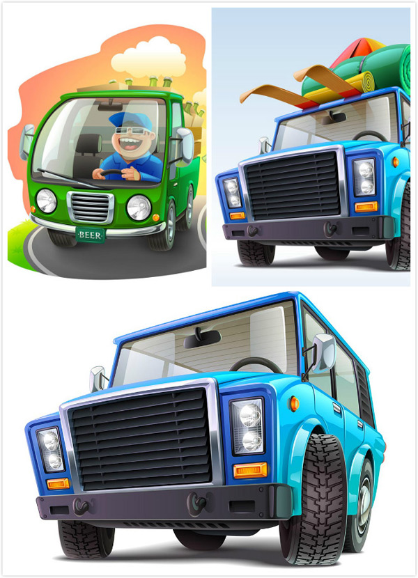 Cartoon vehicle vector