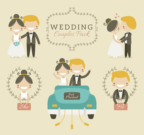 Cartoon wedding