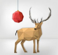 Christmas ball and reindeer