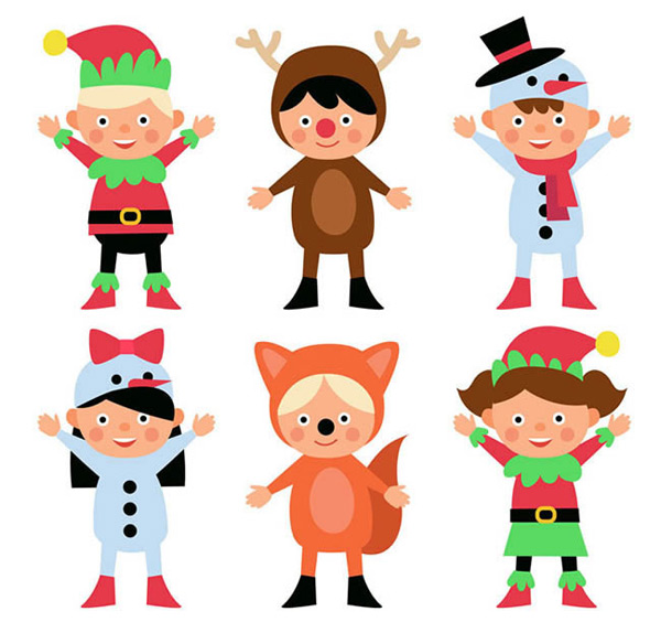 Christmas dress up children