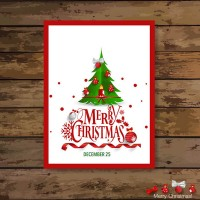 Christmas tree Festival card