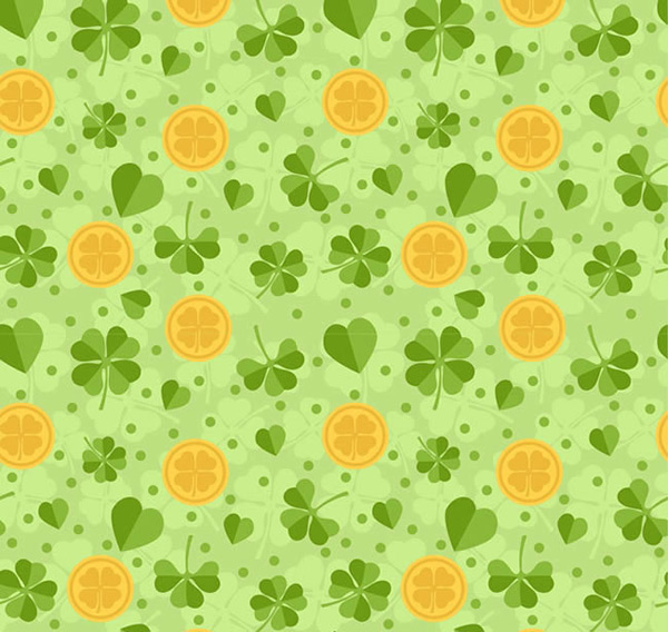 Clover gold background
