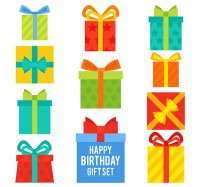 Color birthday gift box