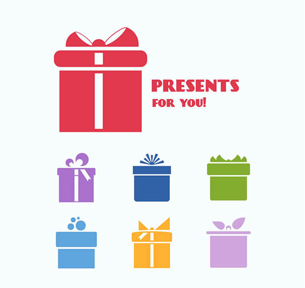 Color gift box design