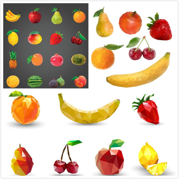 Color stacking fruits