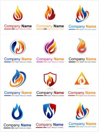 Commercial flame logo