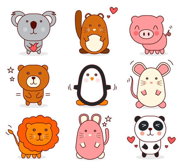 Cute animal design
