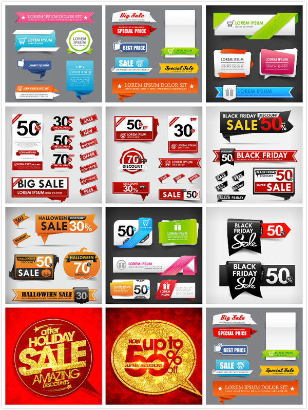 Discount sign vector