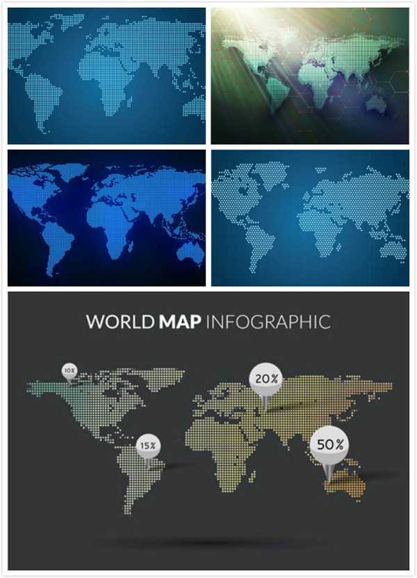 Dotted map of the world