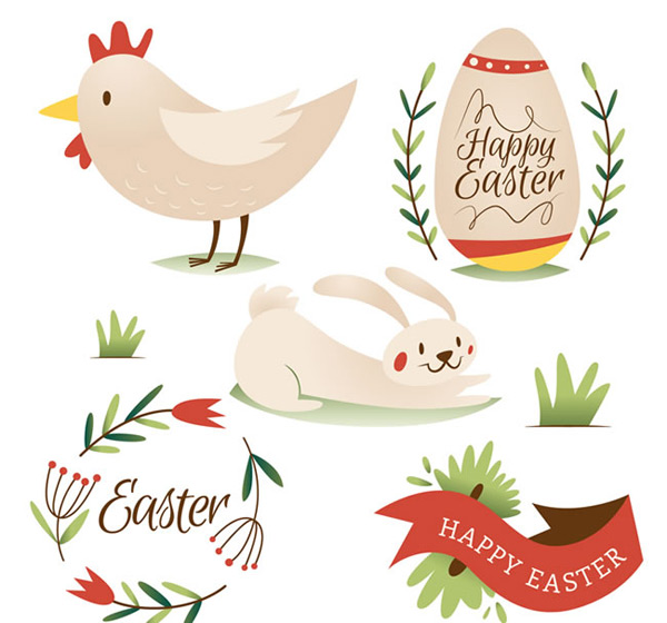 Easter element vector