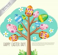 Egg shaped tree vector