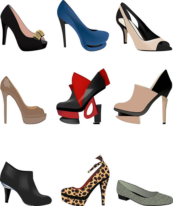 Fashion lady shoes Icon