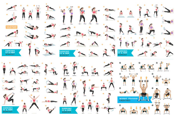 Female fitness characters