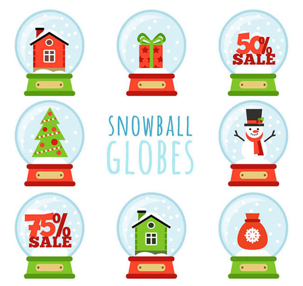 Festival snow glass ball