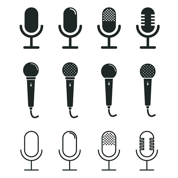 Flattened microphone Icon