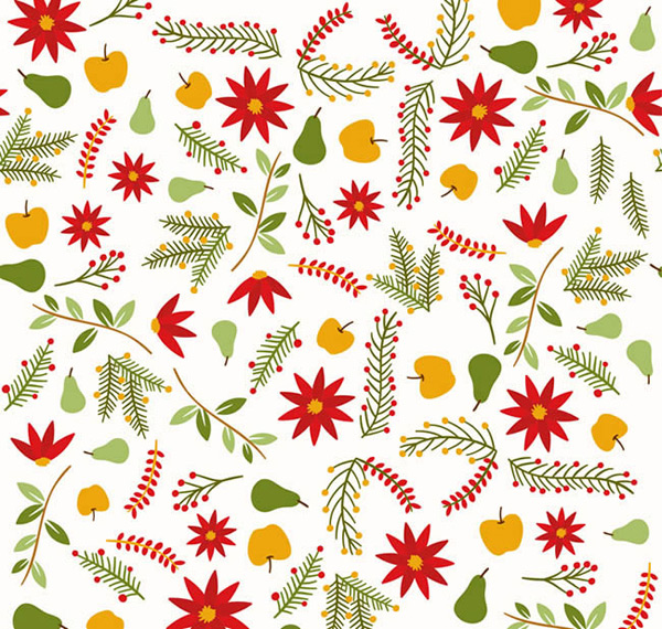 Flower and fruit background