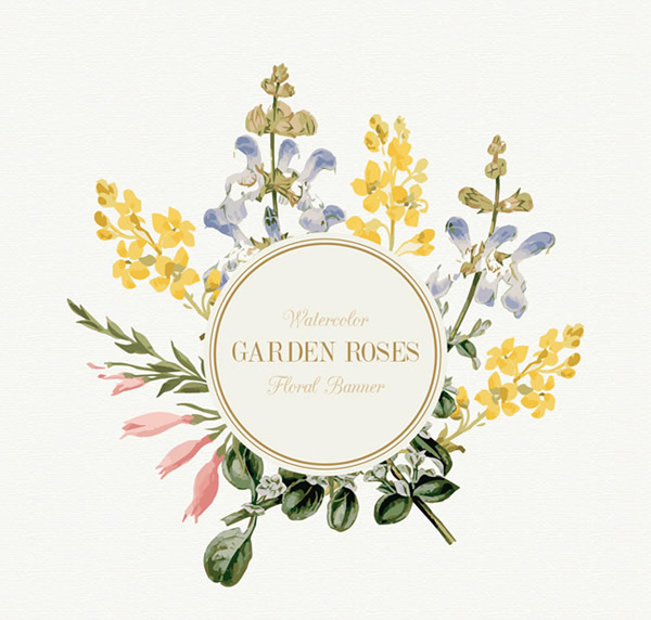 Flower decoration label
