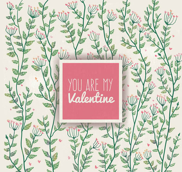 Flowers Valentine s Day cards