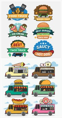 Food labels for fast food cars