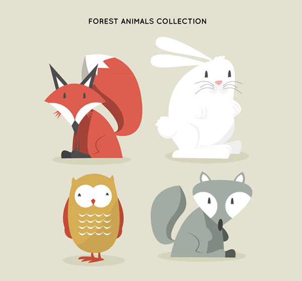 Forest animal vector