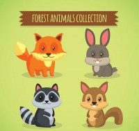 Forest small animal vector