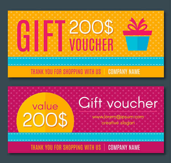 Gift coupon design vector