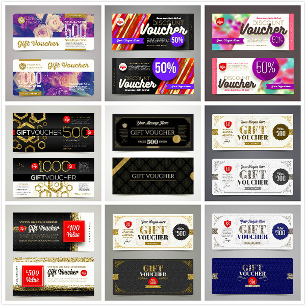 Gift roll card vector