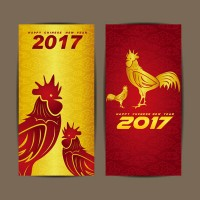 Golden Chicken year banner