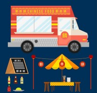 Gourmet fast food car elements