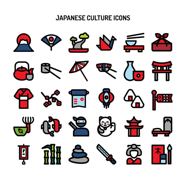 Japanese culture icon