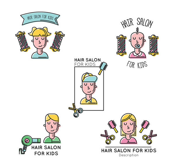 Label for hair salon