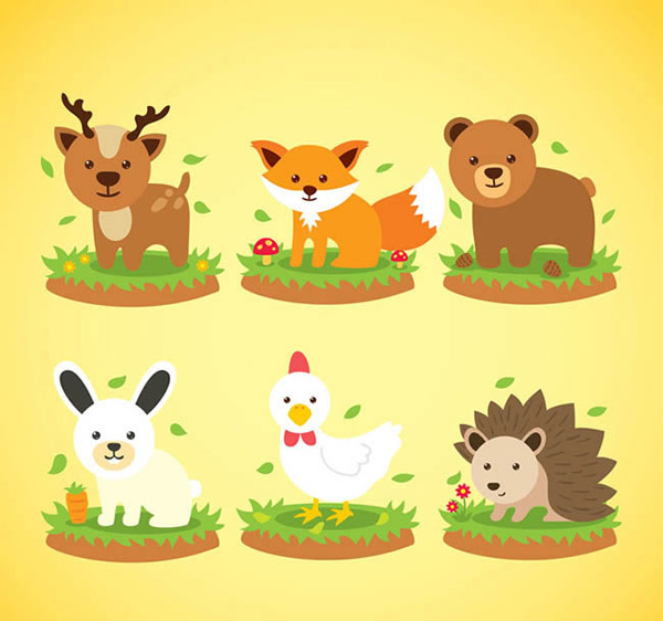 Lovely animal vector