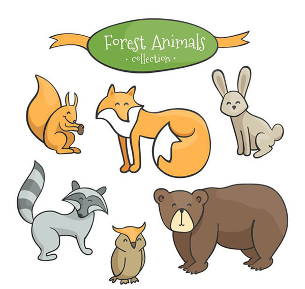 Lovely forest animals