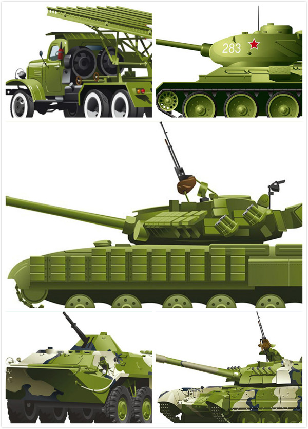 Military machine vector
