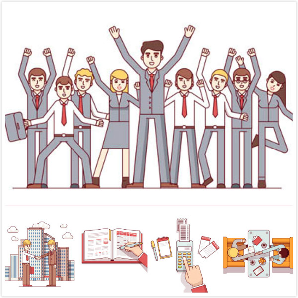 Office business character vector