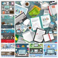 Office stationery vector 2