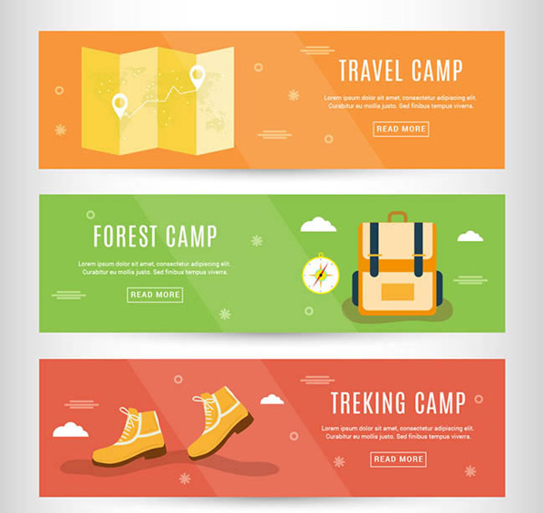 Outdoor camping banner