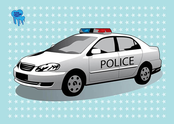 Patrol police car icon