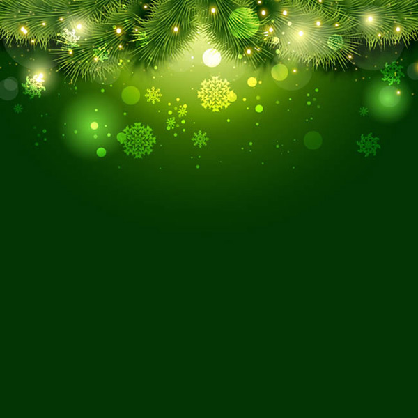 Pine and snowflake background