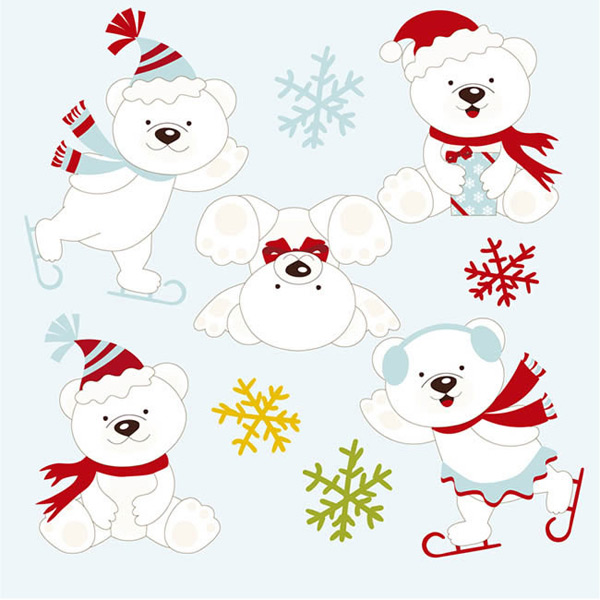 Play polar bear vector