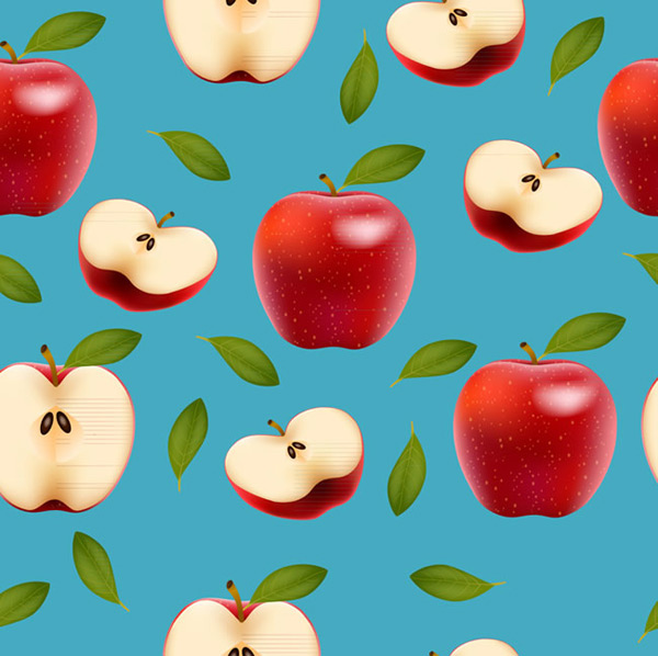 Red apple seamless background