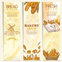 Retro bread themed banners