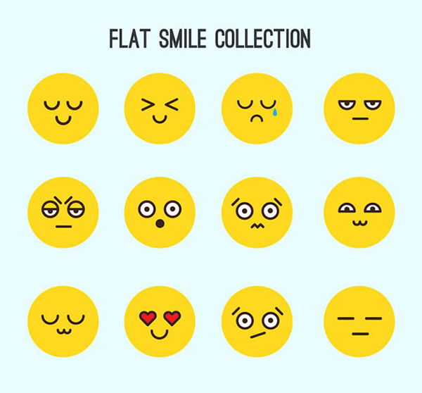 Round face expression vector