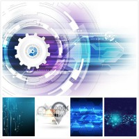 Science and technology background vector