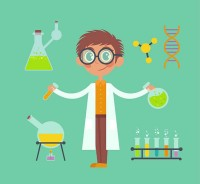 Scientists and laboratory equipment