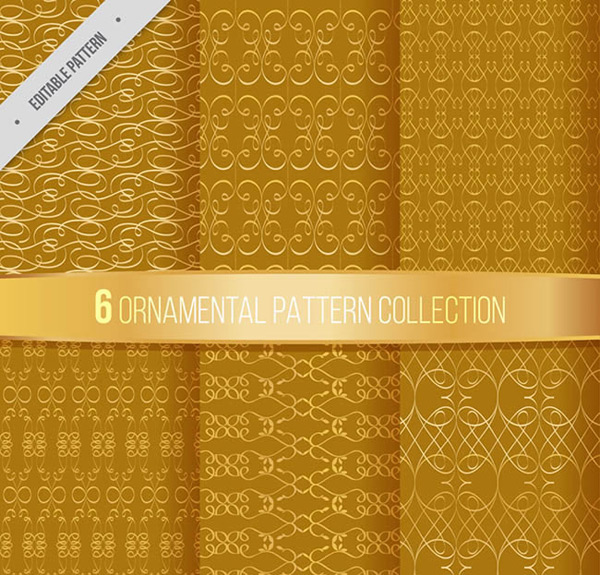 Seamless background of gold pattern